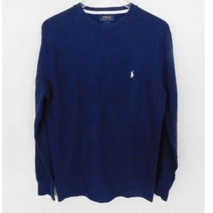 Polo Ralph Lauren  Navy Blue Thermal Shirt Sz M